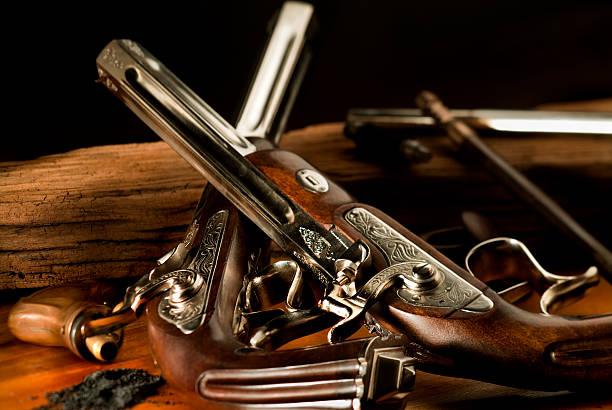 Antique guns stock photo