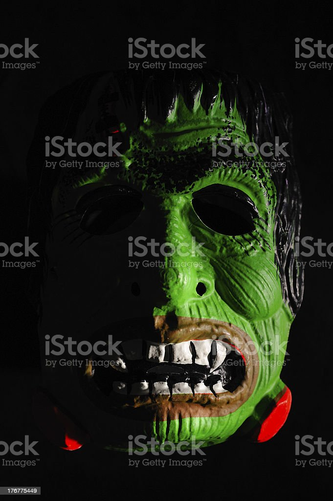 Antique Halloween French Mask on Black royalty-free stock photo