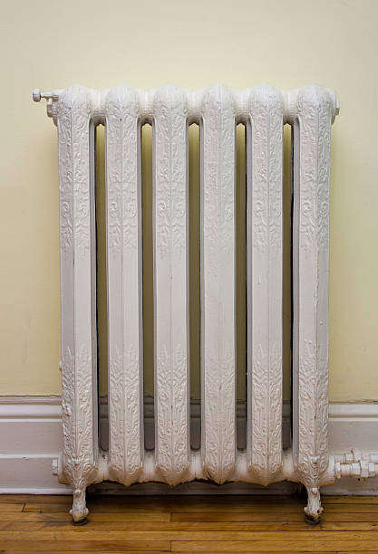 Antique Heat Radiator stock photo