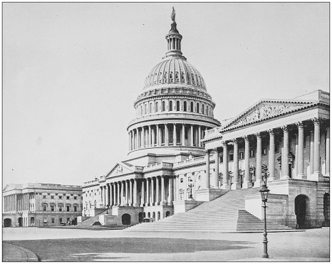 Antique historical photographs from the US Navy and Army: Capitol Building, Washington