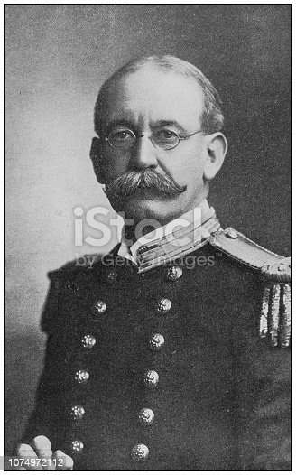Antique historical photographs from the US Navy and Army: Captain Charles Sigsbee