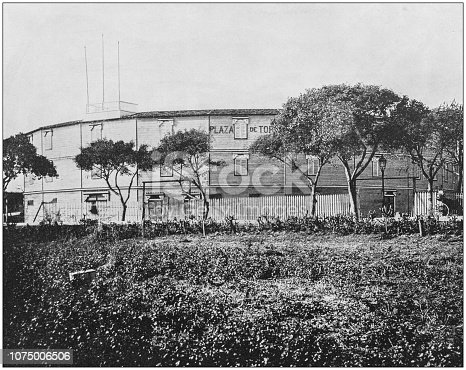 Antique historical photographs from the US Navy and Army: Havana Bullfight Arena, Plaza de Toros