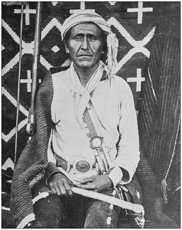 Antique historical photographs from the US Navy and Army: Navajo man