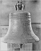 Antique historical photographs from the US Navy and Army: Old Liberty Bell, Philadelphia