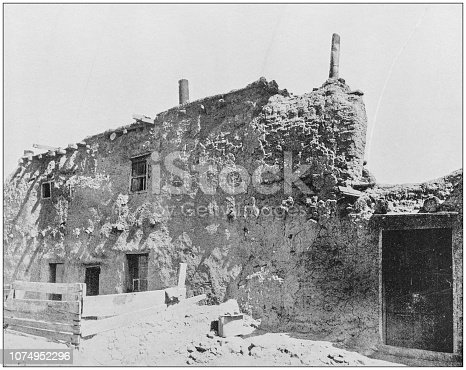 Antique historical photographs from the US Navy and Army: Oldest House in the US, Santa Fe
