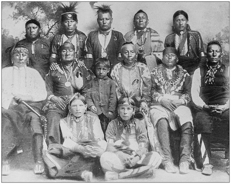 Antique historical photographs from the US Navy and Army: Osage Indians