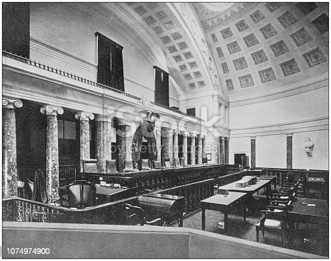 Antique historical photographs from the US Navy and Army: Supreme Court Room, Washington
