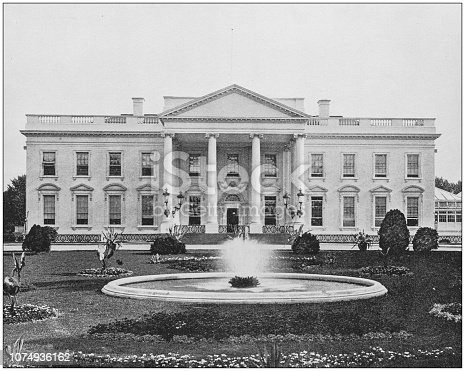 Antique historical photographs from the US Navy and Army: White House