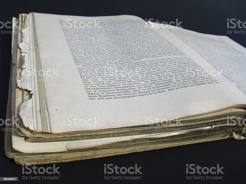 Zabytkowa historia książki zbiór zdjęć royalty-free