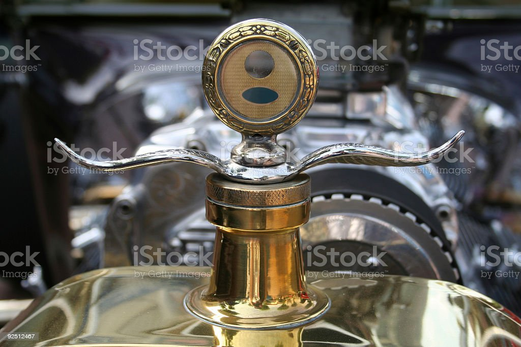 Antique Hood Ornament royalty-free stock photo