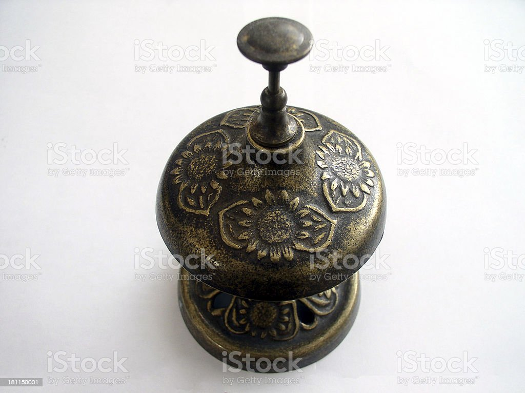 Antique Hotel Bell royalty-free stock photo