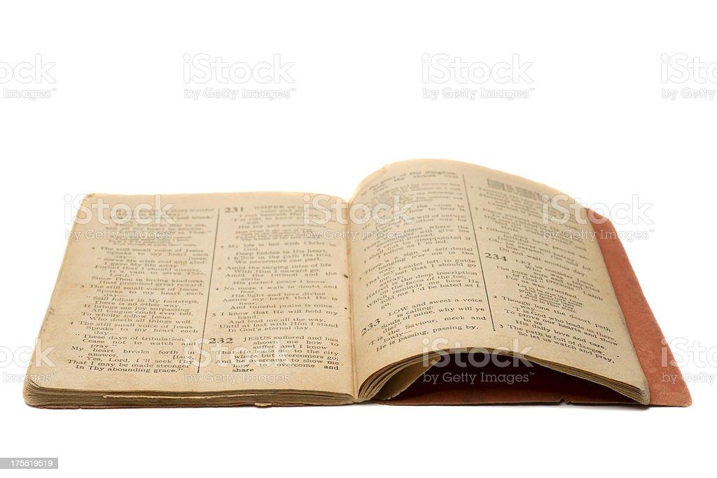 Antique Hymn Book stock photo