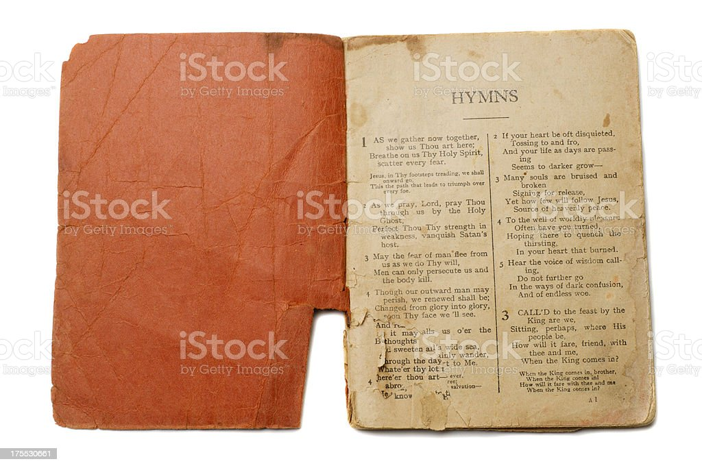 Antique Hymn Book royalty-free stock photo