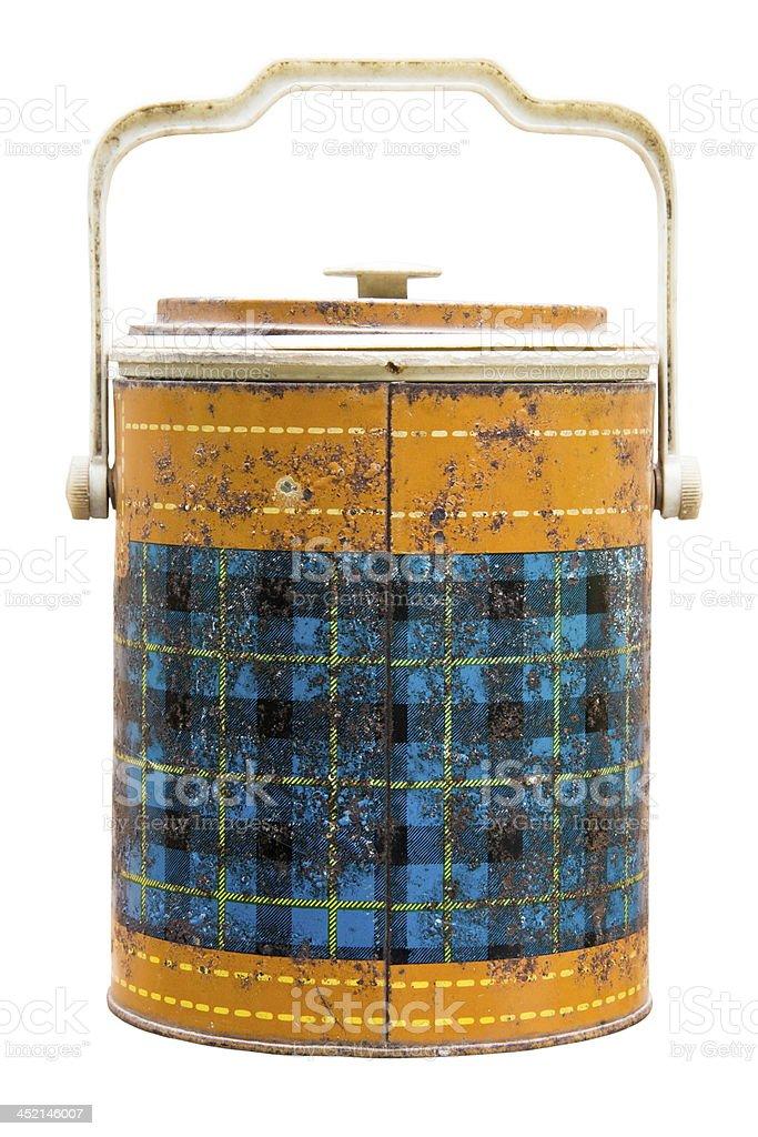 Antique ice bucket royalty-free stock photo