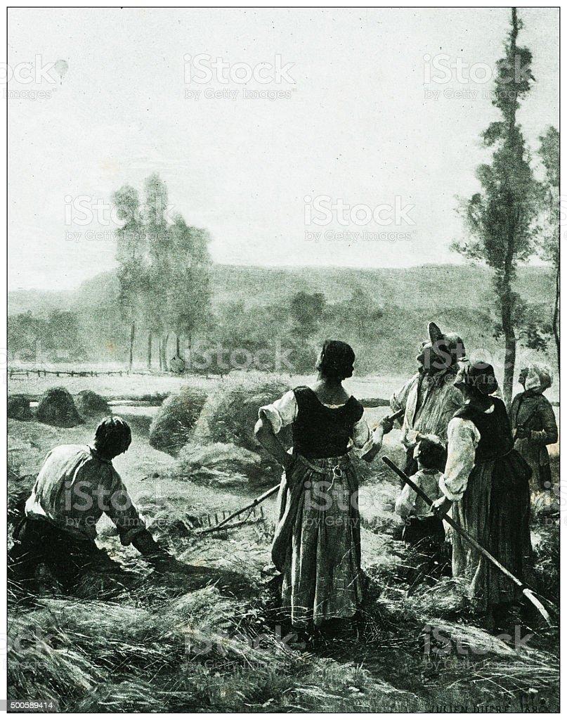 Antique illustration of 'Le Ballon' by Dupré stock photo