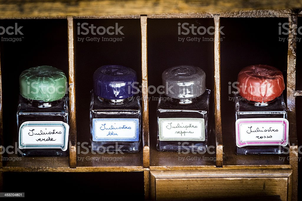 Antique inks royalty-free stock photo