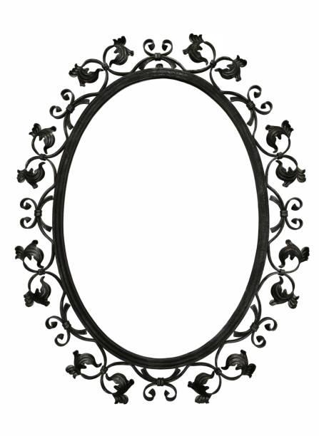 armature de fer antique miroir - motif ornemental photos et images de collection