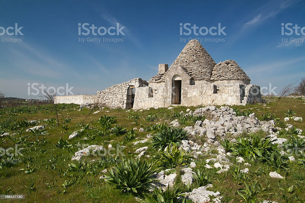Antique italian house 'Trulli' Alberobello royalty-free stock photo