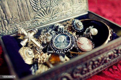 istock Antique Jewelry Box 155068624