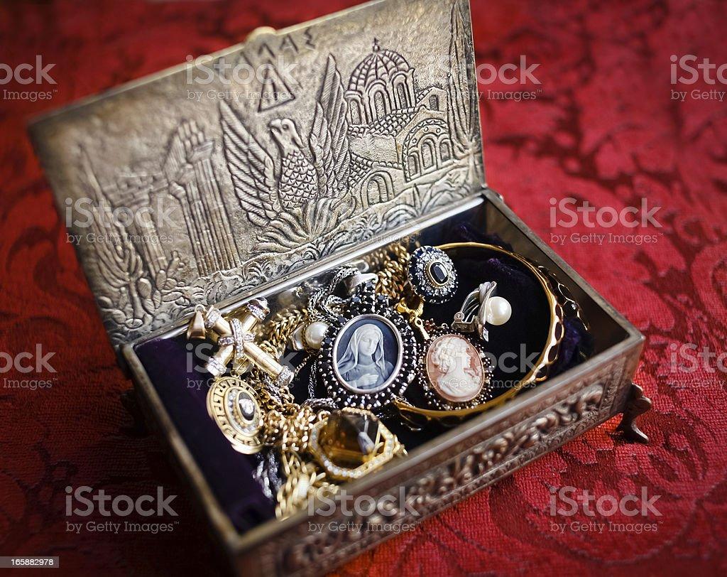 Antique Jewelry Box royalty-free stock photo