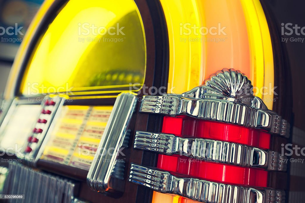 Antique jukebox stock photo