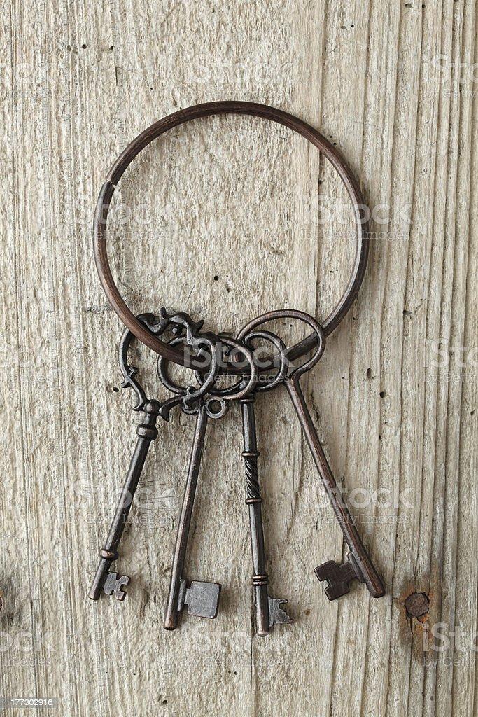 Antique key royalty-free stock photo