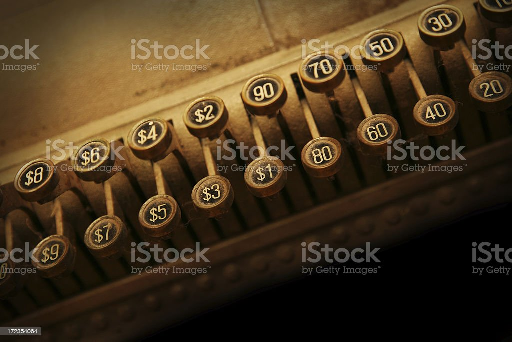 antique keypad royalty-free stock photo