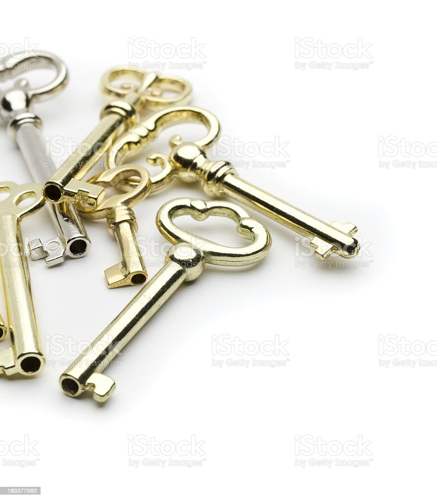 Antique Keys stock photo