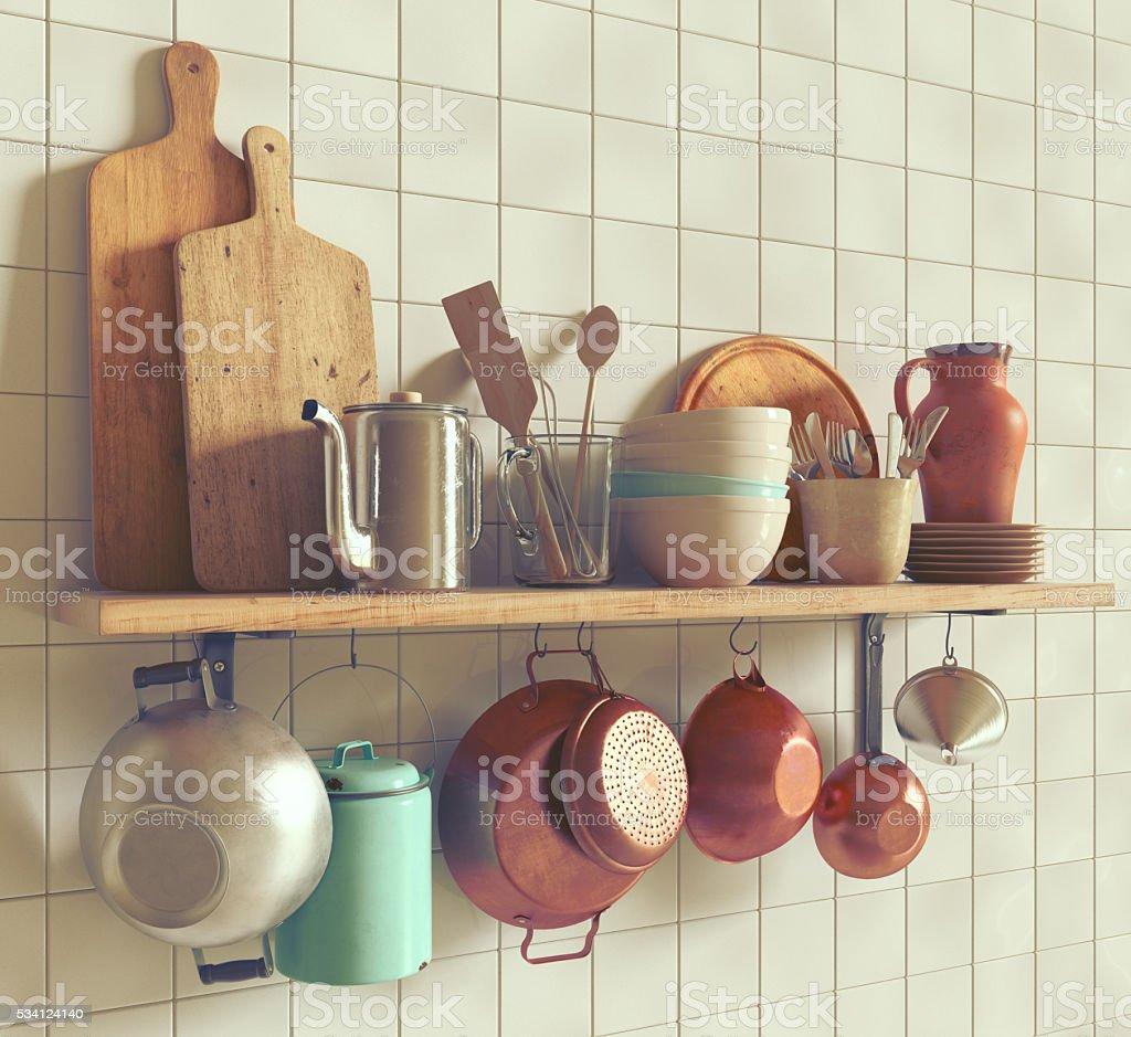 Antichi Utensili Da Cucina - Fotografie stock e altre immagini di ...