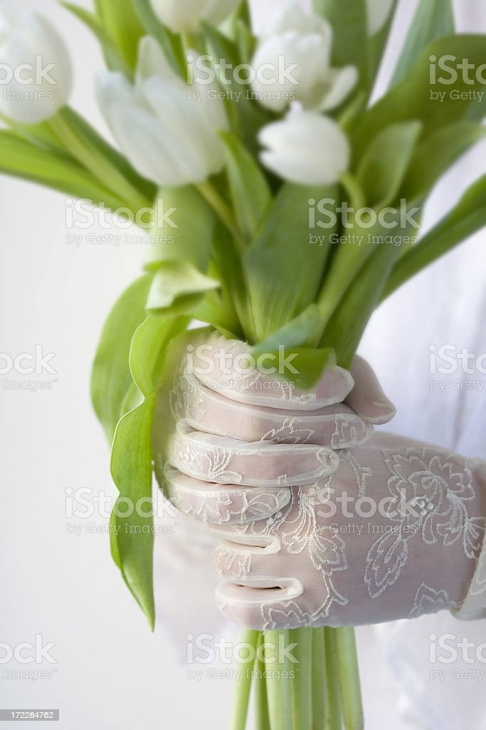 Antique Lace Gloves royalty-free stock photo