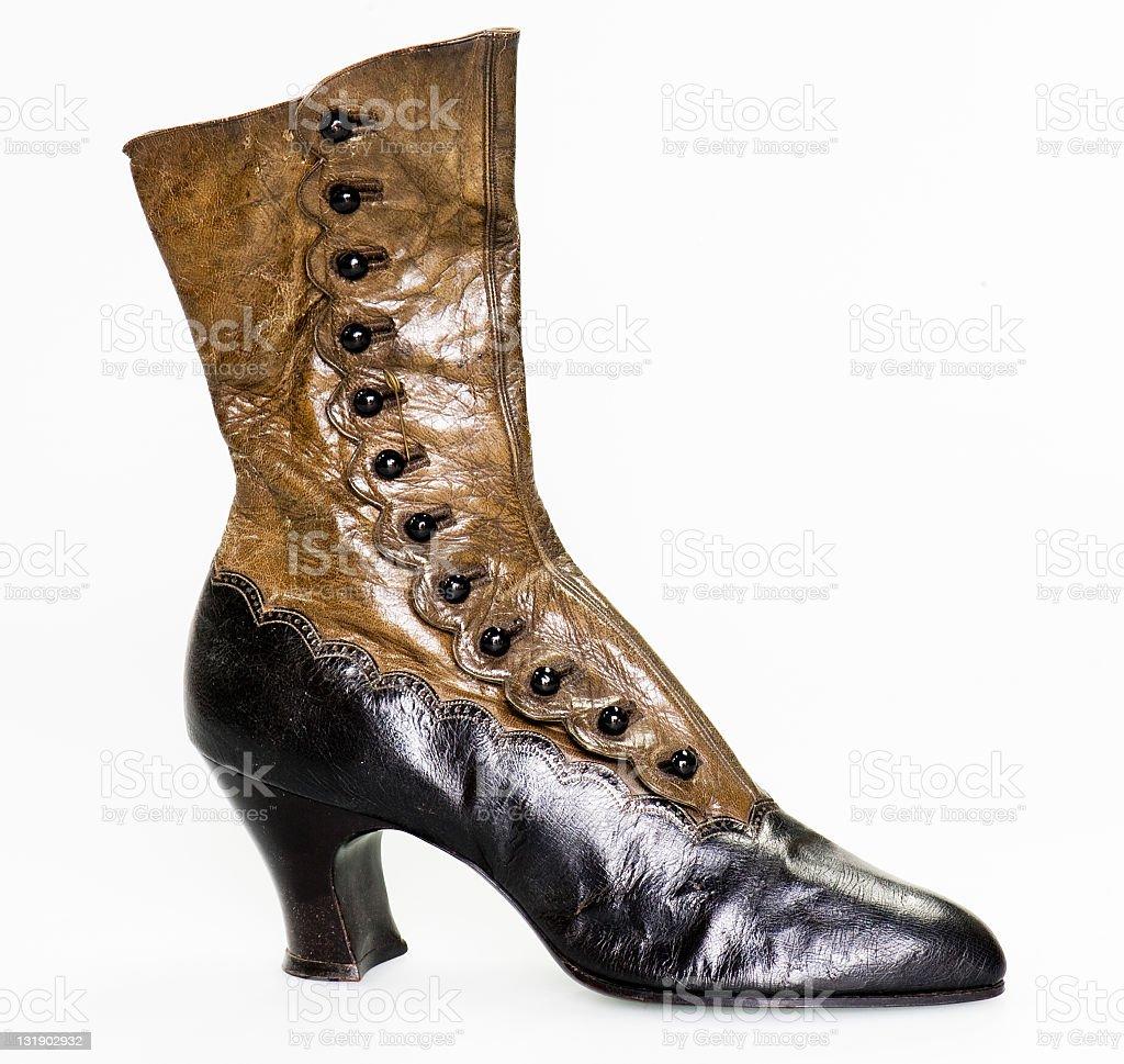 antique ladies boot stock photo