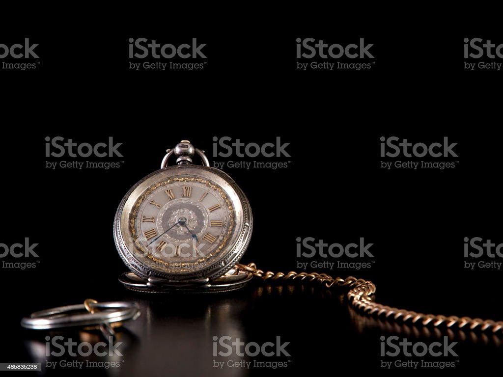 Antique Ladies Fob Watch stock photo