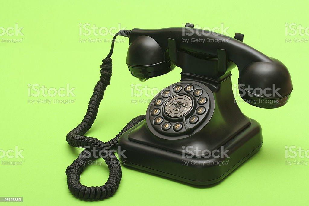 Antique landline phone royalty-free stock photo