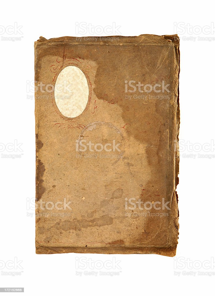 Antique Leather Book Cover royalty-free stock photo