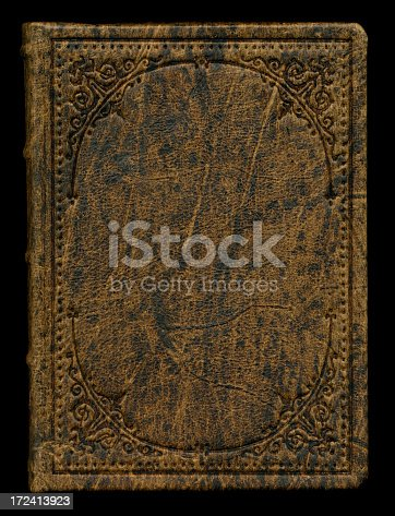 istock antique leather book cover 172413923