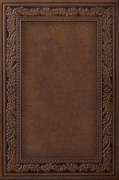 Antique Leather Book Cover stock photo