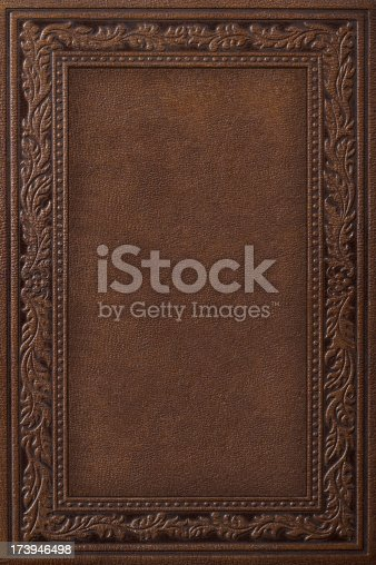 Book Cover With Pictures : Antique leather book cover stock photo more pictures of