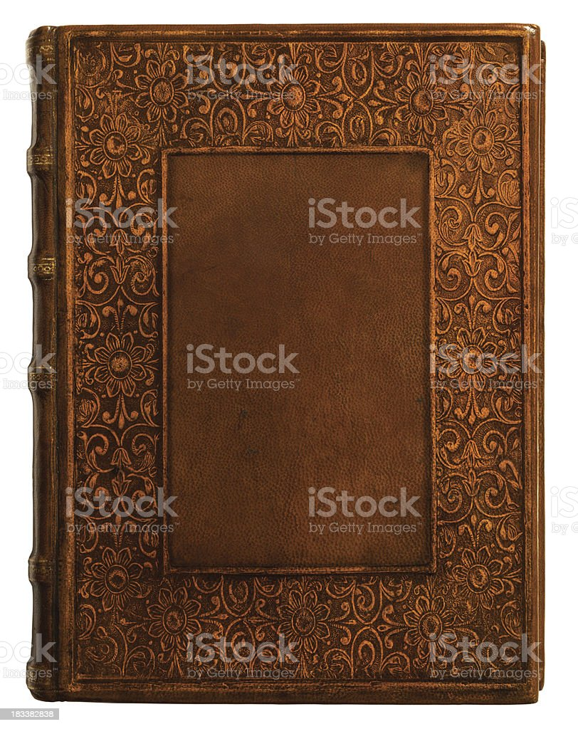 Vintage Leather Book Cover : Antique leather book cover stock photo more pictures of