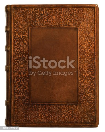 istock Antique Leather Book Cover 183382838