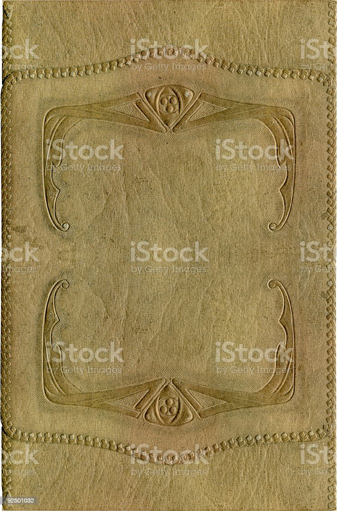 Antique leather cover pattern royalty-free stock photo
