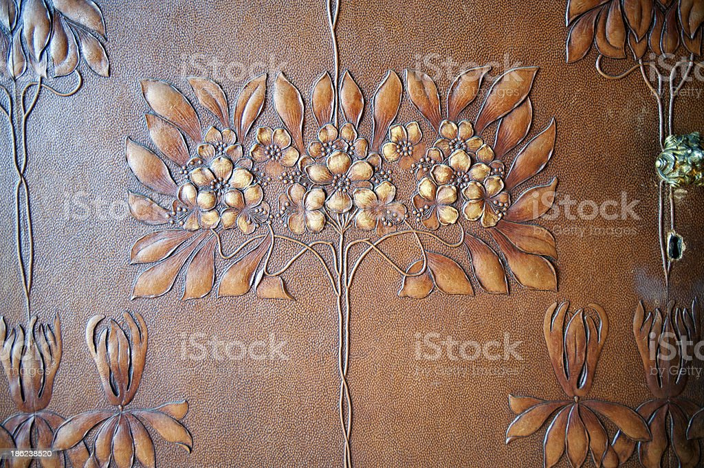Antique leather wallpaper royalty-free stock photo