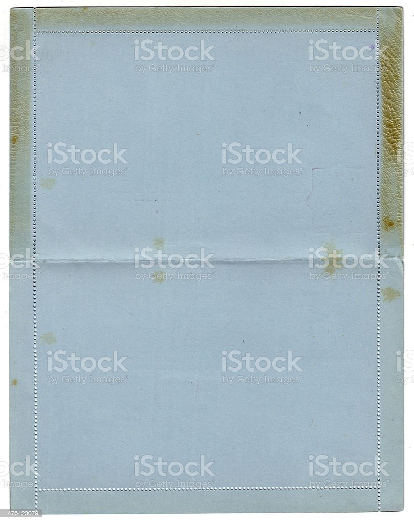 Antique letter card royalty-free stock photo