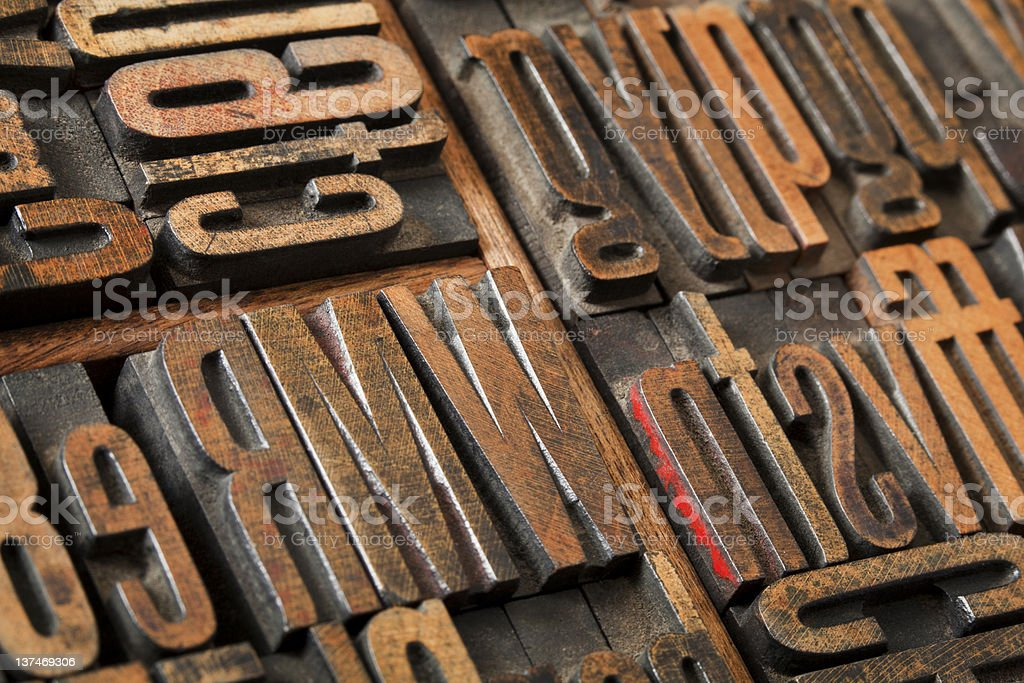 antique letterpress type abstract royalty-free stock photo