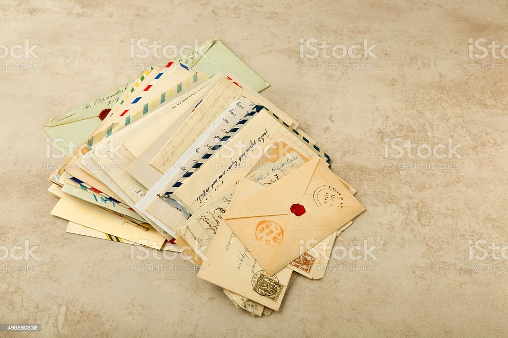 Antique letters stock photo