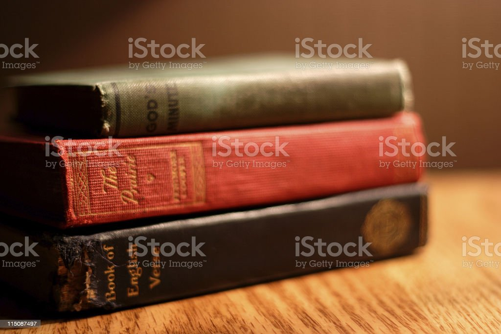 antique library books royalty-free stock photo
