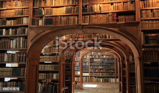 An amazing collection of old books (all older than 150 years) in the baroque library in Görlitz, Germany