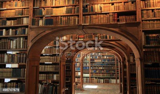 istock Antique library 495747679