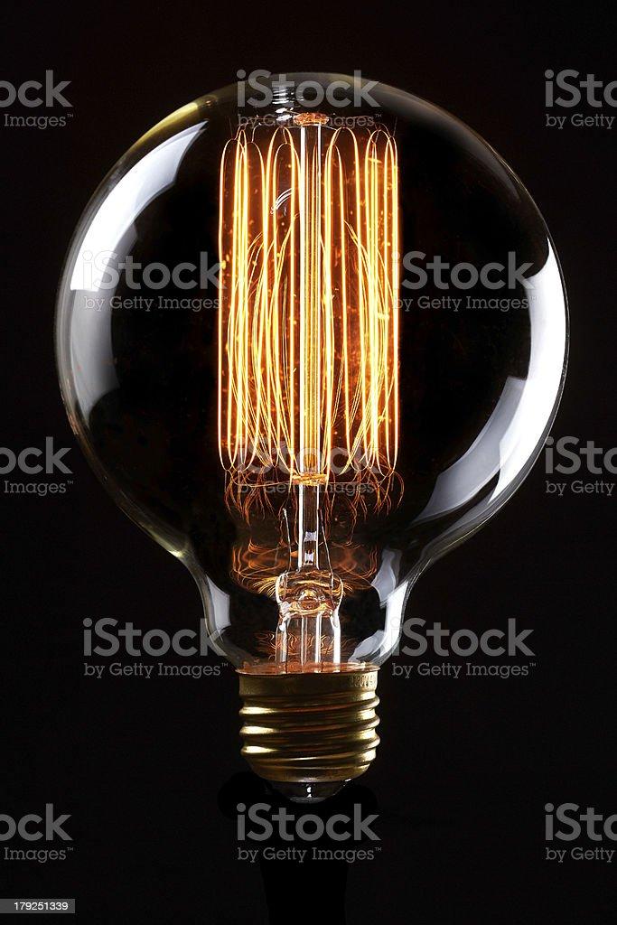 Antique Light Bulb stock photo