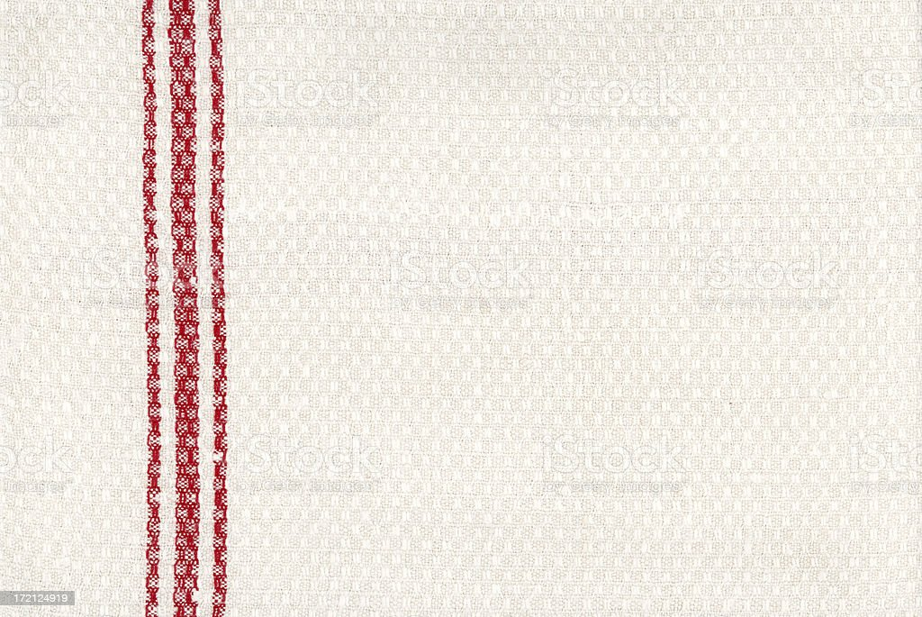 antique linen | white with red stripes royalty-free stock photo