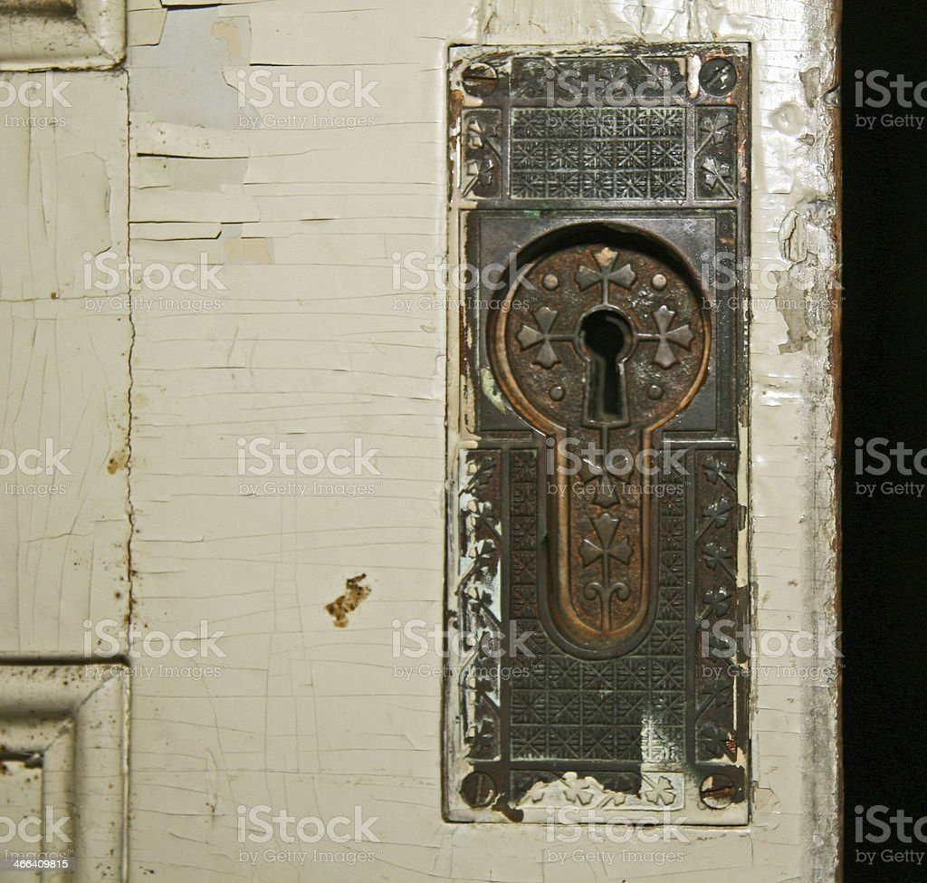 Antique lock royalty-free stock photo